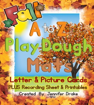 Fall Play Dough Mats For A to Z!  Letter & Picture Mats PL
