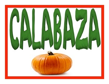 Fall Playdough Word Mats in Spanish