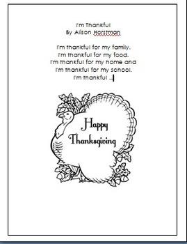 Poem: I'm Thankful