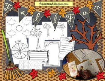 Fall Poster Graphing, Probability, Fractions,  Sum of Tens