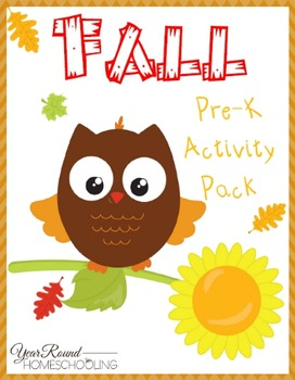 Fall PreK Activity Pack