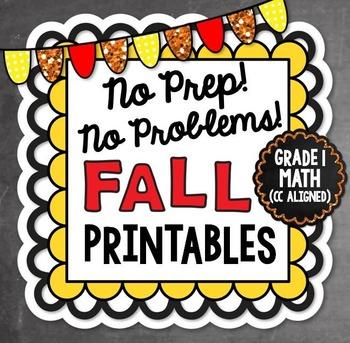 Fall NO PREP Math - 1st Grade