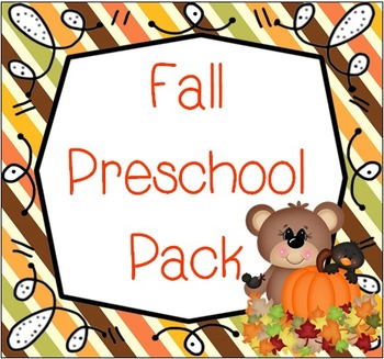 Fall Preschool Pack