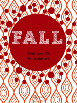 Fall Print and Go Articulation