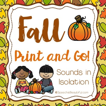 Fall Print and Go Articulation -156 pg SOUND LEVEL PRINTAB