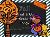 Fall Print and Go Articulation Pack Early Developing Sounds
