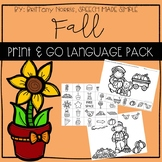 Fall Print and Go Language Pack