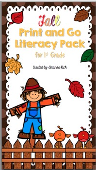 Fall Print and Go Literacy Pack for First Grade