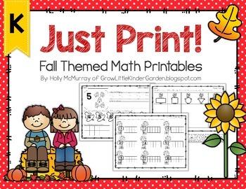 Fall Printables for Math
