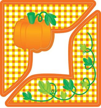 Fall Pumpkin Corner - Holiday Project Framer