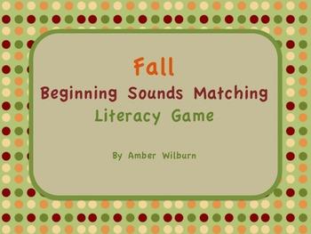 Fall Pumpkin Letter Sounds Matching Game