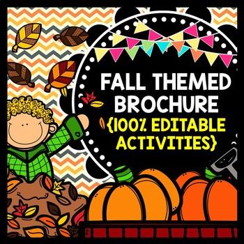Fall Pumpkin Patch and Apple Orchard Brochure {100% Editab