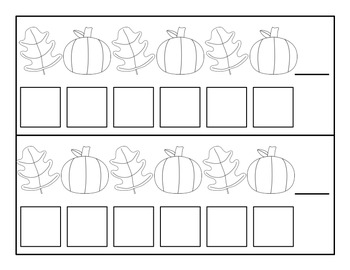 Fall Pumpkin/Leaf Patterns - Kindergarten