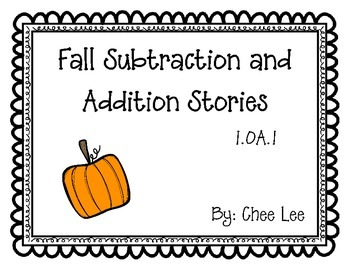 Fall QR Addition/Subtraction Stories