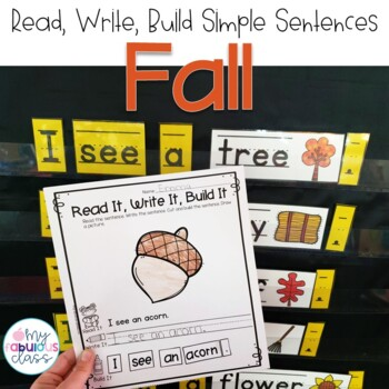 Fall Read, Build, Write {Simple Sentences}