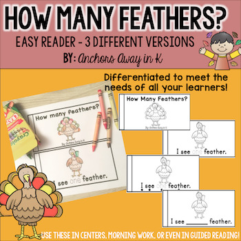 Counting Feathers Emergent Reader