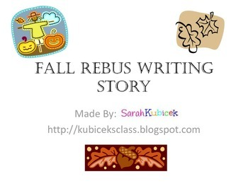 Fall Rebus Writing Story