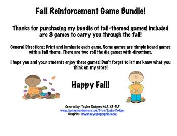 Fall Reinforcement Game Bundle