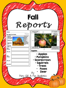 First Grade Writing -  Fall Reports