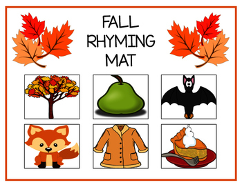 Fall Rhyming Mat
