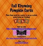 Fall Rhyming Pumpkin Cards