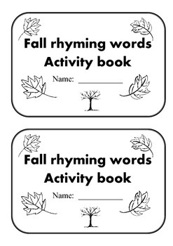Fall Rhyming Words Seasonal Activity Book all words for th