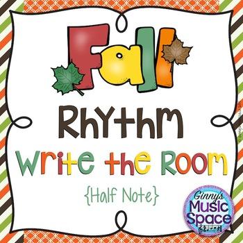 Fall Rhythm Write the Room {Half Note}