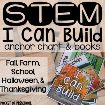 Fall STEM I Can Build Cards, Books, and Anchor Charts
