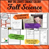 Fall Science Why do Leaves Change Colors, Experiments, Int