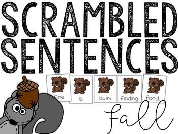 Fall: Scrambled Sentences (Writing Activity)