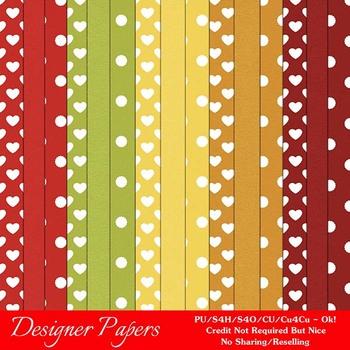 Fall Season Colors 1 Digital Papers Package 1