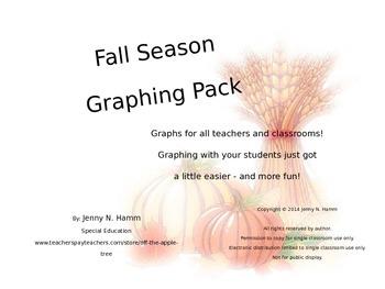 Fall Season Graphing Pack - Whole Group, Adaptable & Editable!