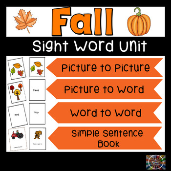 Fall Sight Word Book and Kit Unit Autumn #ThankfulSales