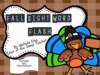 Sight Word Flash Cards: Fall Set 1
