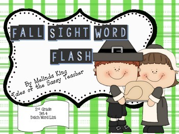 Fall Sight Word Flash Set 4