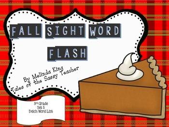 Sight Word Flash Cards: Fall Set 5