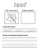 Fall Sight Words Activity Pack