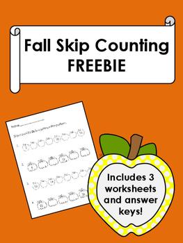 Fall Skip Counting FREEBIE