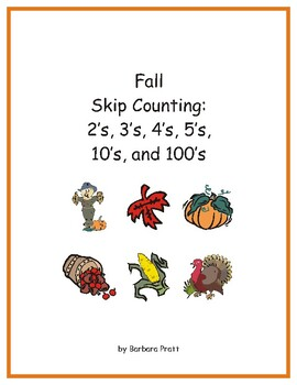 Fall Skip Counting to 120: 2's, 3's, 4's, 5's, 10's, and 1