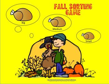 Fall Sorting Game