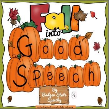 Fall Speech, Language & Literacy Activities.