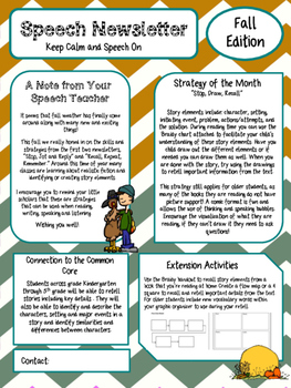 Fall Speech Newsletter