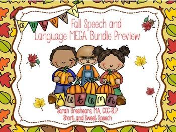 Fall Speech and Language Mini Bundle
