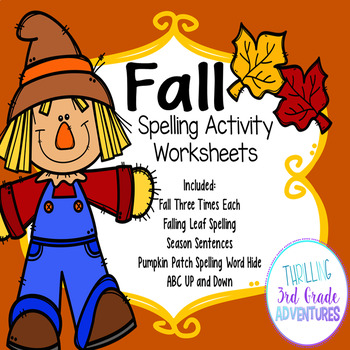 Fall Spelling Worksheets