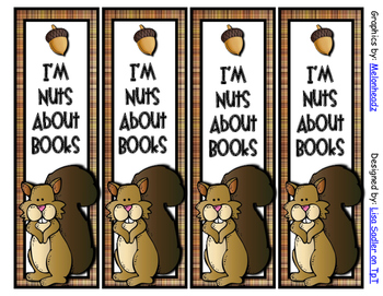 Fall Squirrel Themed Bookmarks