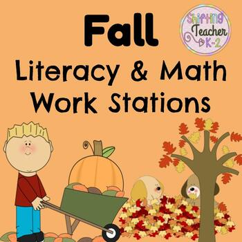 Fall Stations Pack - Literacy and Math Stations