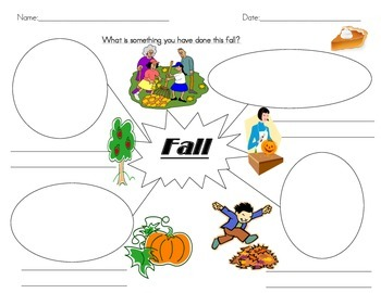 Fall Story Writing: Descriptive, Personal Narrative, Etc.