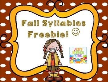 Fall Syllables {FREEBIE}