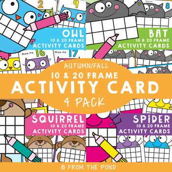 Fall Ten Frame Activity Cards