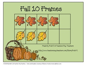 Ten  Frame and Manipulatives for Fall (10 Frames)